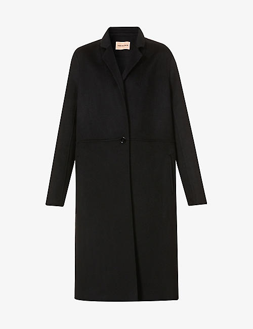 YVES SALOMON: Single-breasted wool and cashmere-blend coat