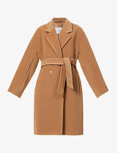 MAX MARA: Baiocco double-breasted camel wool coat