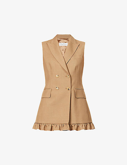 MAX MARA: Ladino sleeveless mohair and silk-blend jacket