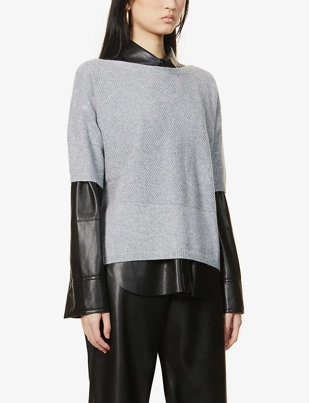 MAX MARA: Boario short-sleeved cashmere and cotton-blend jumper