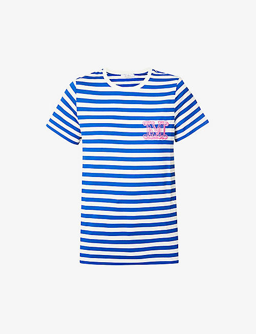 MAX MARA: Ginnico striped cotton-jersey T-shirt
