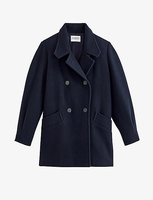 CLAUDIE PIERLOT: Galinette wool-blend coat
