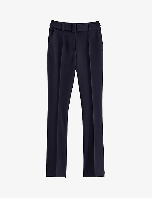 CLAUDIE PIERLOT: Propice high-wise straight-leg woven trousers