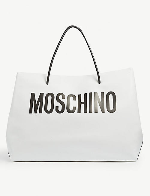 MOSCHINO: Logo-print oversized tote bag