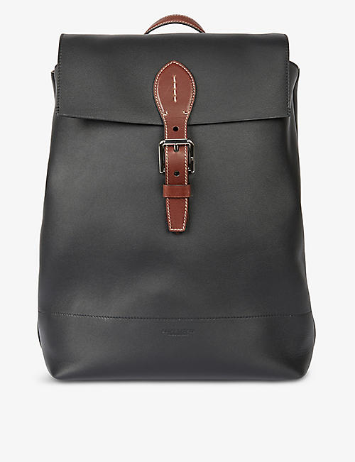 RALPH LAUREN PURPLE LABEL: Voyager leather backpack