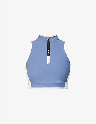 VAARA: Parker zip-front stretch-jersey top