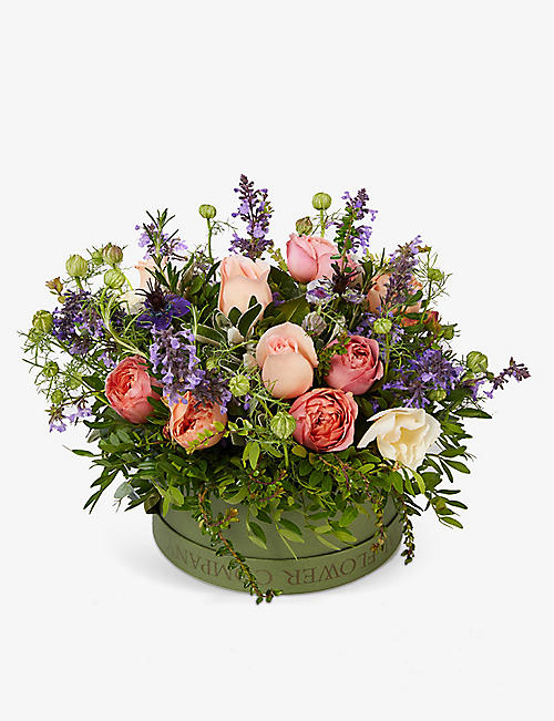 THE REAL FLOWER COMPANY: English Romance scented hat box arrangement
