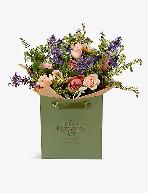THE REAL FLOWER COMPANY: English Romance scented small bouquet