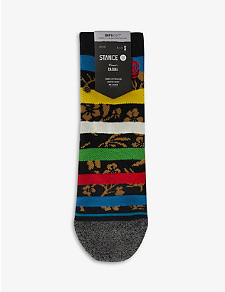 STANCE: Petal Power Quarter cotton-blend socks