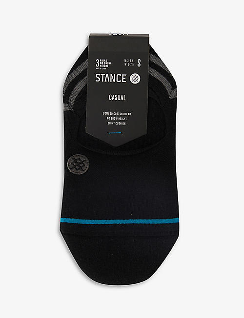 STANCE: Gamut 2 No Show cotton-blend socks pack of three