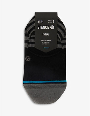 STANCE: Sensible No Show cotton-blend socks pack of three