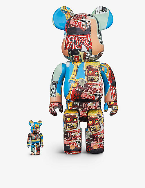 BE@RBRICK:Basquiat #6 100% 和 400% 玩偶 2 件装