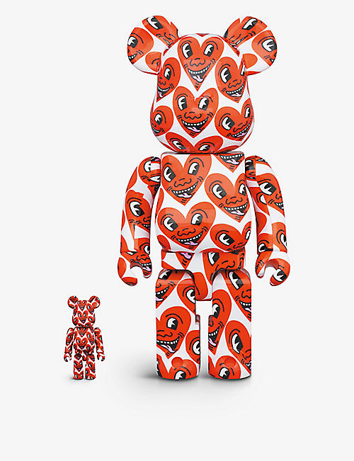 BE@RBRICK: Be@rbrick Keith Haring #6 100% and 400% figures set of two
