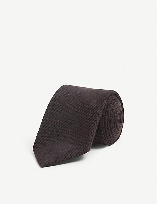 BIGI CRAVATTE: Knitted silk and cashmere tie