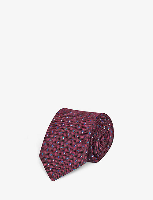 BIGI CRAVATTE: Spaced daisy-pattern silk tie