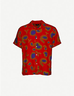OBEY: Duster paisley-print crepe shirt