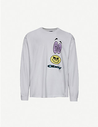 OBEY: Acid Crash Box cotton-jersey top