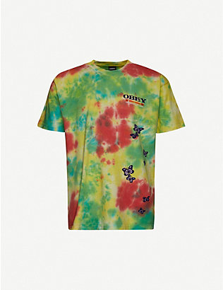OBEY: To The Children tie-dye cotton-jersey T-shirt