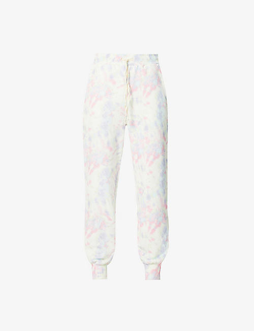 OLIVIA RUBIN: Tilda high-rise cotton-jersey jogging bottoms