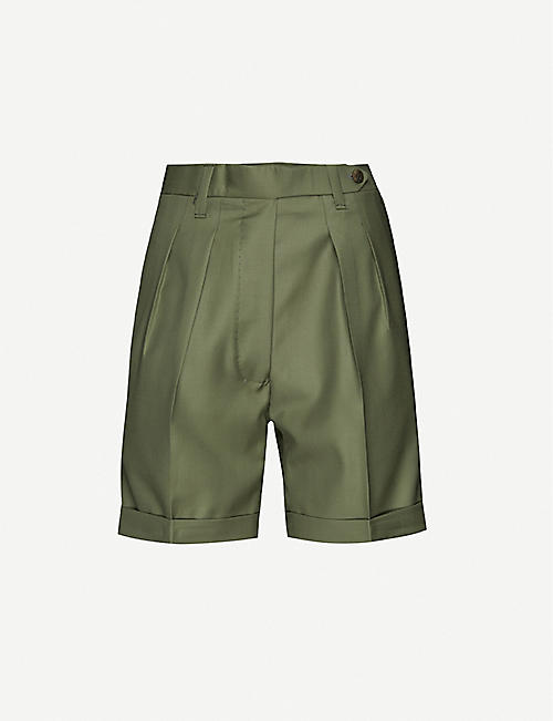 GIULIVA HERITAGE: Husband high-rise wool shorts