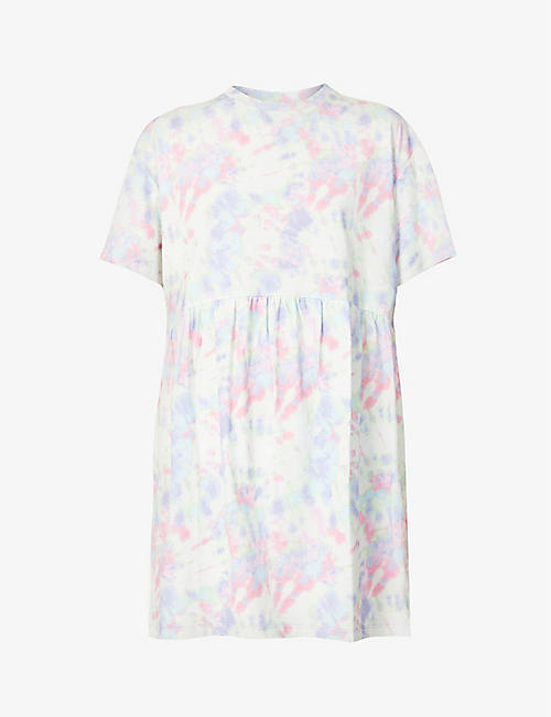 OLIVIA RUBIN: Roxy tie-dye cotton-jersey mini dress