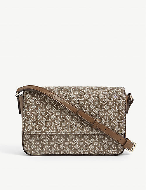 DKNY: Bryant coated-canvas cross-body bag
