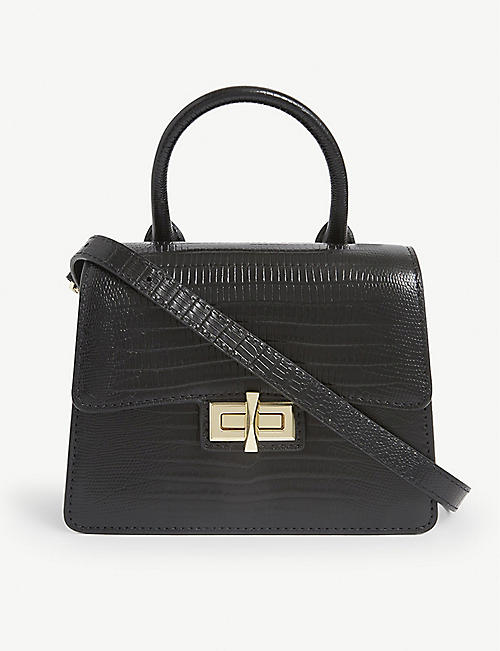 DKNY: Jojo embossed leather top handle bag