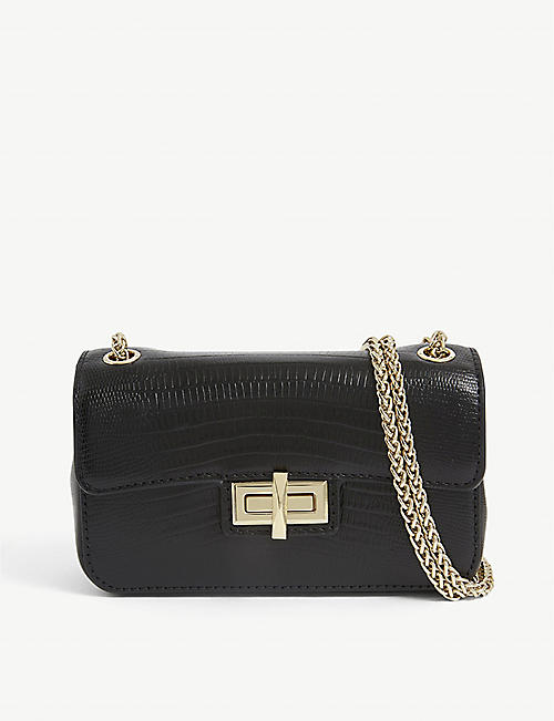 DKNY: Jojo embossed leather cross-body bag