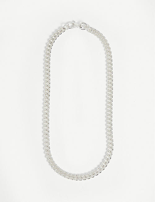 HATTON LABS: Classic Cuban sterling silver necklace