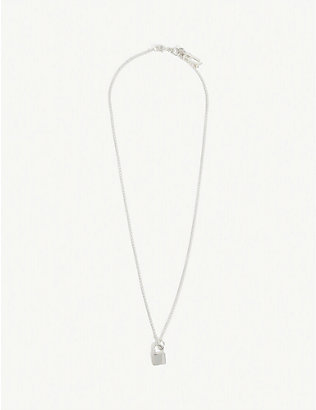 HATTON LABS: Classic sterling silver padlock chain necklace