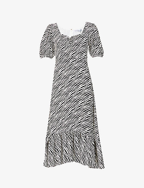 FAITHFULL THE BRAND: Gabriela animal-print woven midi dress