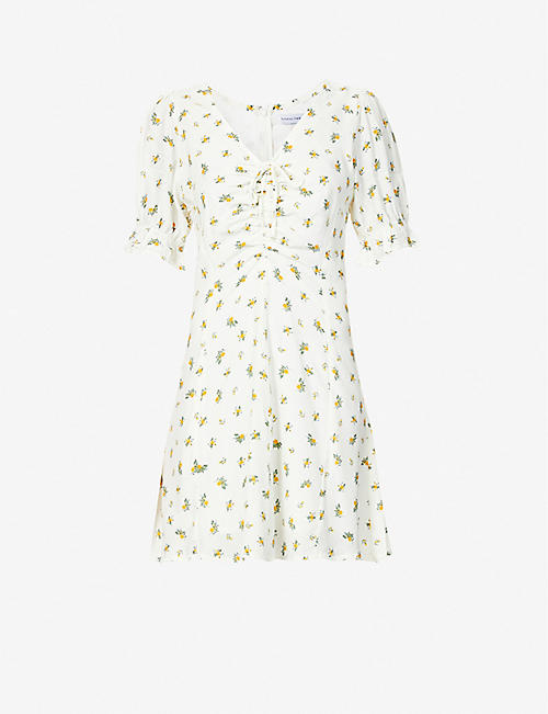 FAITHFULL THE BRAND: Palma floral-print woven mini dress