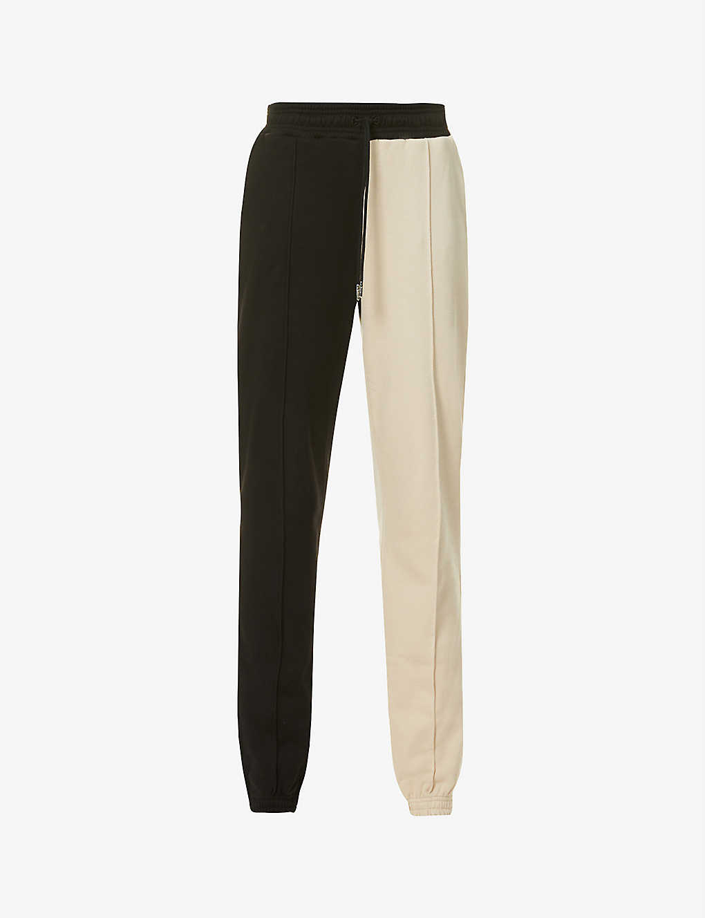 NINETY PERCENT: Two-tone organic-cotton jersey jogging bottoms