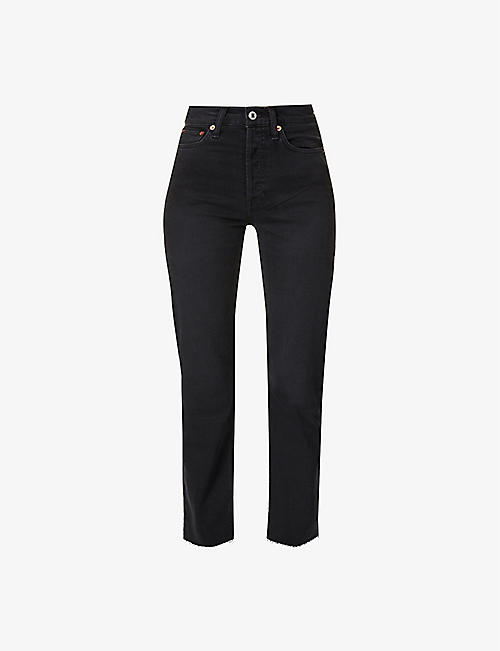 RE/DONE: Stove Pipe slim high-rise jeans