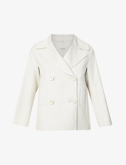 S MAX MARA: Connie double-breasted wool coat