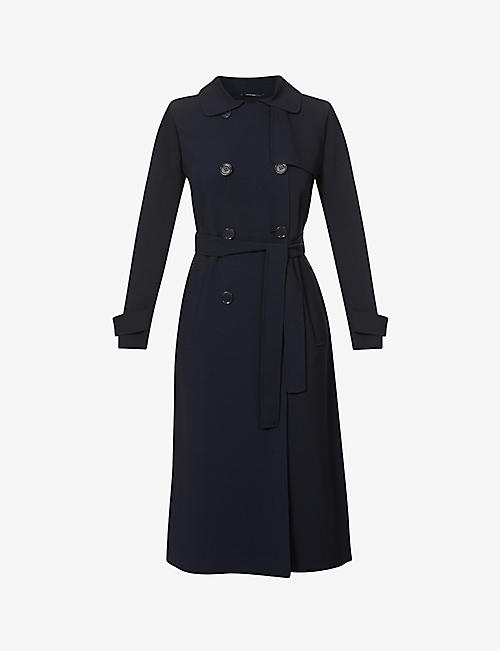 S MAX MARA: Main double-breasted stretch-wool coat