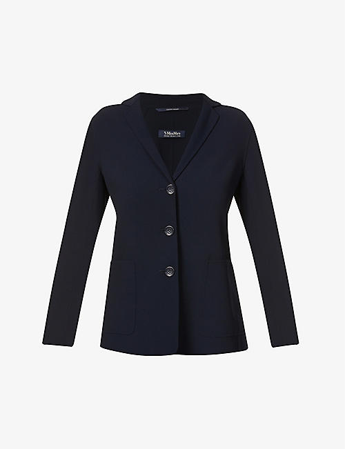 S MAX MARA: Aspen single-breasted stretch-wool jacket