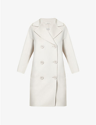 S MAX MARA: Anita double-breasted wool and cashmere-blend coat