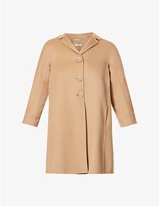 S MAX MARA: Paris notch-lapel wool coat