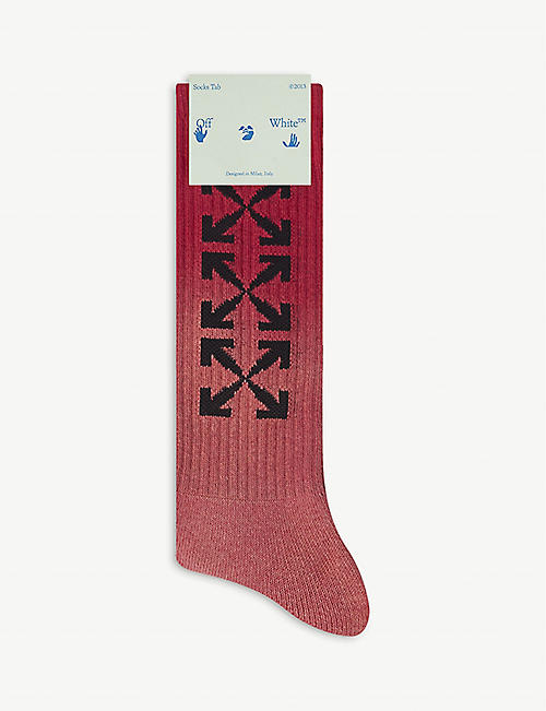 OFF-WHITE C/O VIRGIL ABLOH: Logo-embroidered cotton socks