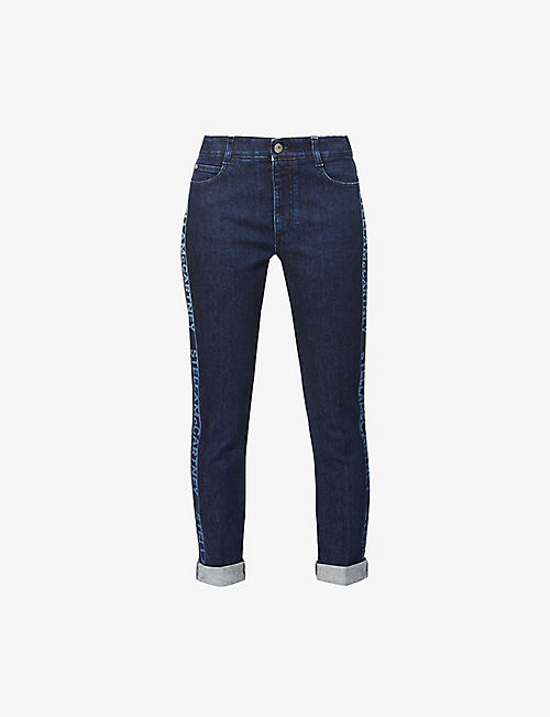 STELLA MCCARTNEY: Branded skinny mid-rise stretch-denim jeans