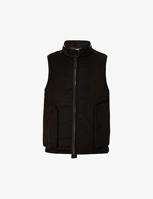 STONE ISLAND SHADOW PROJECT: Padded velvet gilet