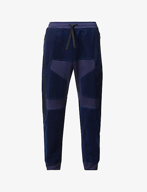 STONE ISLAND SHADOW PROJECT: Panelled stretch-velvet jogging bottoms