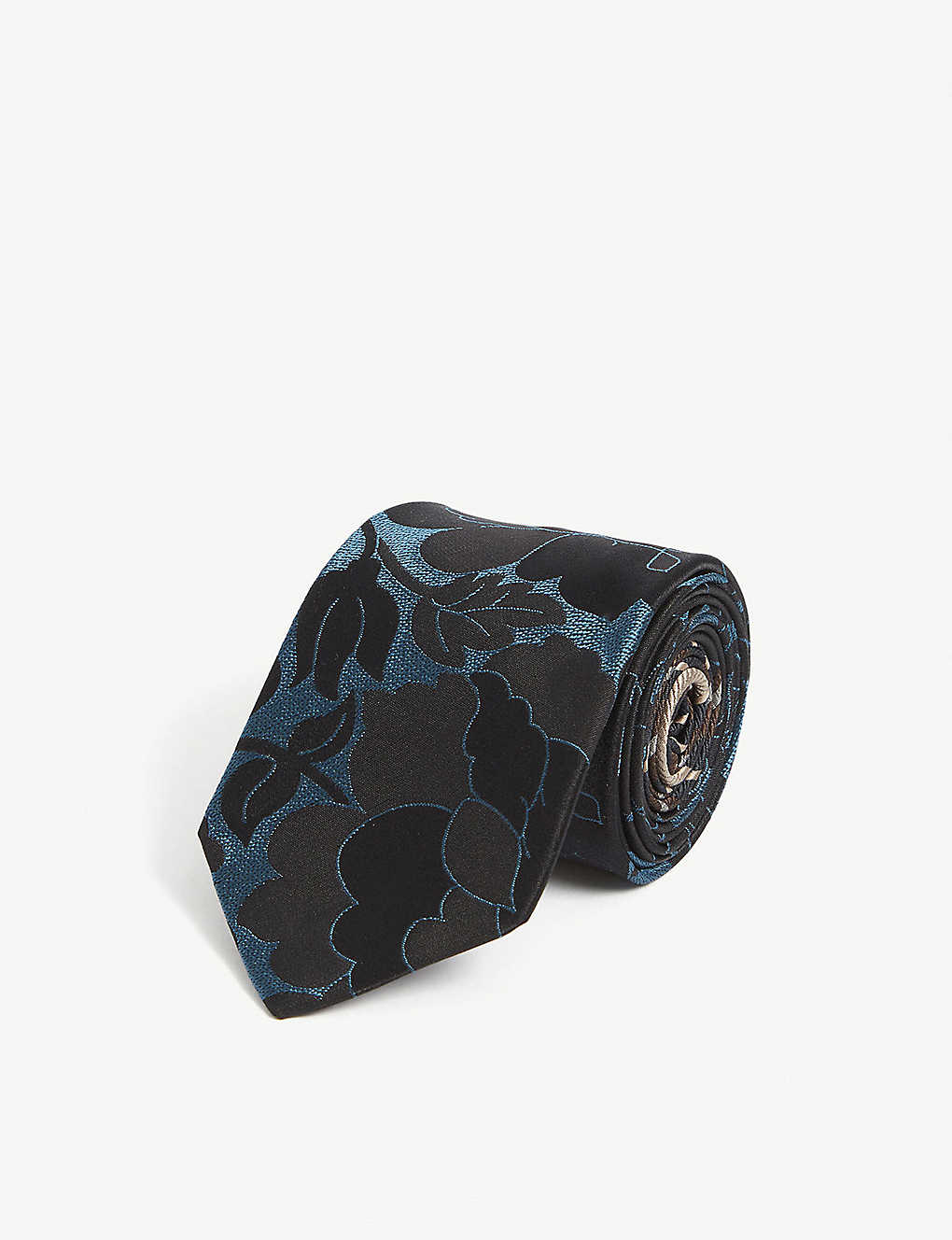 DRIES VAN NOTEN: 100 abstract-pattern silk tie