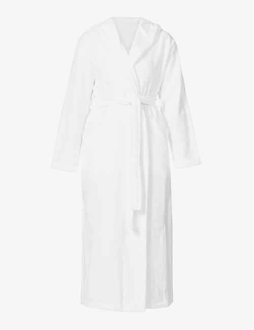 SKIN: Hamam Spa cotton-towelling dressing gown