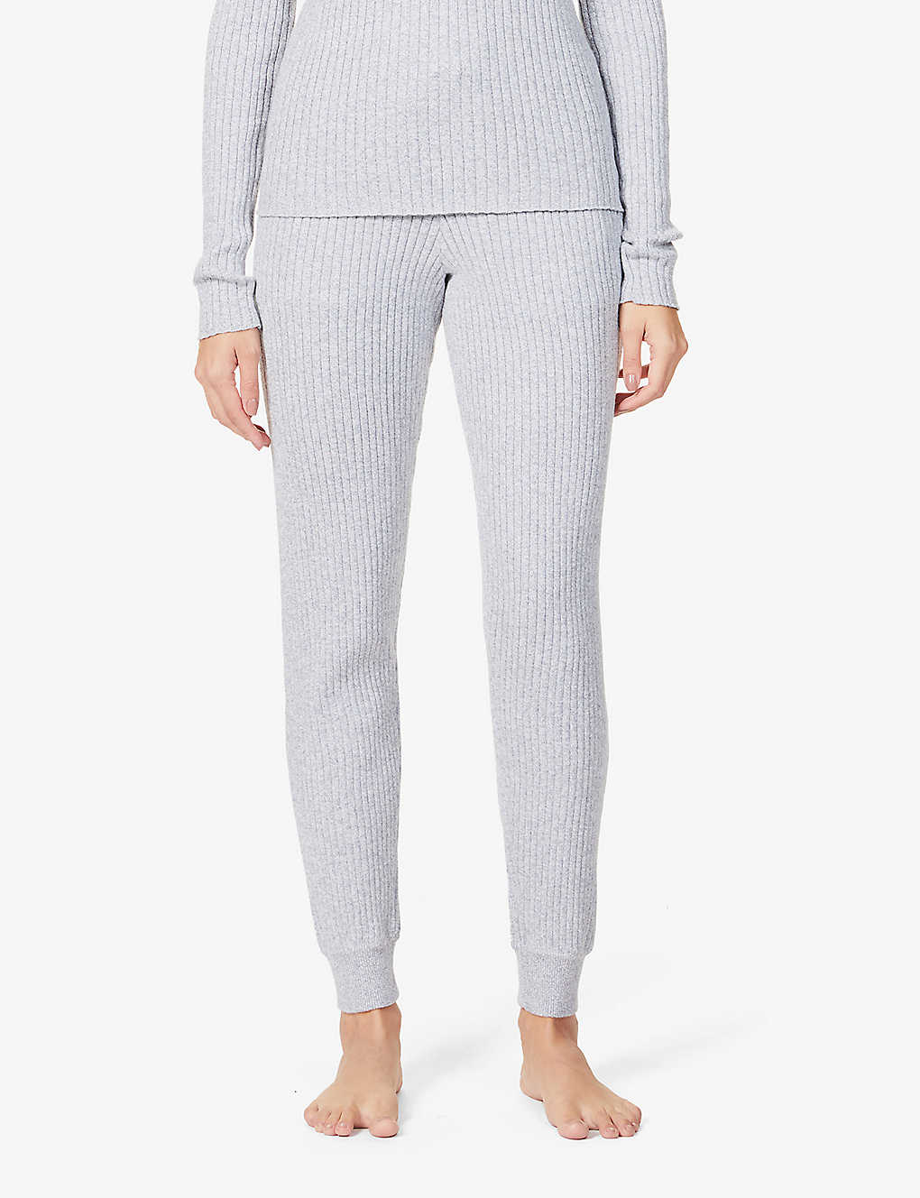 SKIN: Maizie high-rise cotton and cashmere-blend jogging bottoms