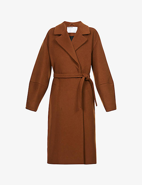 DESIGNERS REMIX: Cyrus belted woven coat