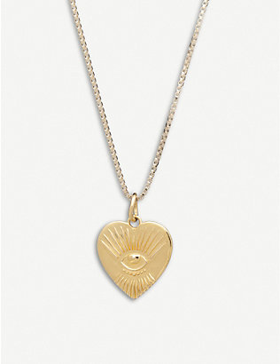 RACHEL JACKSON: Protective 22ct gold-plated sterling silver tattoo heart necklace