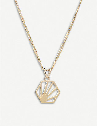 RACHEL JACKSON: Serenity mini 22ct gold-plated sterling silver necklace