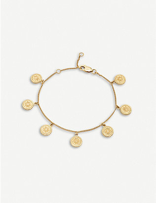 RACHEL JACKSON: Eternal Sun 22ct gold-plated sterling silver multi-coin bracelet
